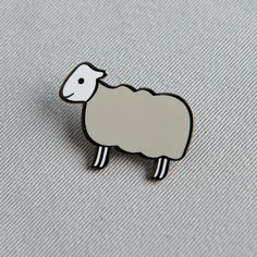 A cute enamel pin featuring Sheep. It makes a great gift for family and friends. Sheep is a cream colour with a white head and legs. Bring your favourite Jin Designs character to life. The pin can be added to bags, lapels, clothing or pencil cases - in fact anywhere you'd like to take Sheep with you. The pin is made of Nickel Plating, Cute Sheep, Good Presentation, Hard Enamel Pin, Cat Sitting, Black Rubber, Gift For Lover, Gifts For Family, Lapel Pins