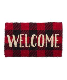 Black And White Buffalo Check Welcome Mat Doors Porch