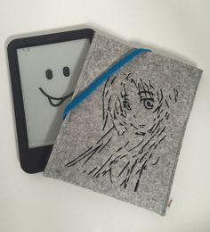 e-Reader Taschen - E Book Reader Filz Hülle * Manga Mädchen * - ein Designerstück von thoga-kreativ bei DaWanda