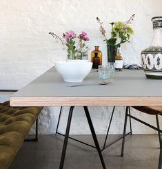 Diy Dining Table, Dining Rooms, Nye, Sweet Home, Linoleum Flooring, Interior Design, Kisses, Modern, Furniture