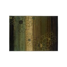StyleHaven Henderson Ombre Floral Rug, Brown, 74A