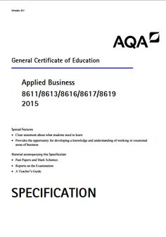Aqa as applied business coursework