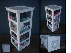 Nail Polish  Rotating  Storage  Organizer by PalletCreatives