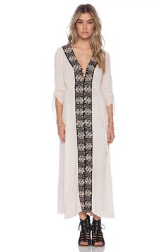 Free People Journey To The Horizon Dress in Shell