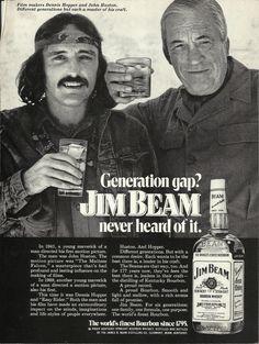 Jim Beam ad 1972 Dennis Hopper