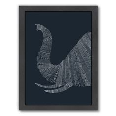 "East Urban Home Elephant by Florent Bodart Framed Graphic Art Size: 26.5"" H x 20.5"" W x 1.5"" D"