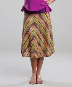 Take a look at this Violet Zigzag Maternity Skirt by Maternal America on today! Maternity Skirts, Maternity Outfits, That Look, Take That, Zig Zag, America, Summer Dresses, Mom, Stylish