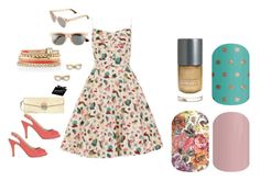 """""""Jamberry Nails - Rockabilly"""" by kspantonjamon on Polyvore featuring Monsoon, L.A.P.A., White House Black Market, Kate Spade and TOMS"""