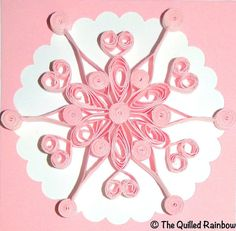Quilled Christmas Card  Quilled Snowflake in by TheQuilledRainbow