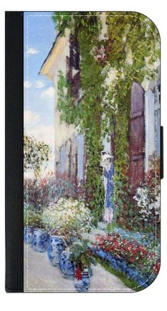 Claude Monet-The Artists House at Argenteuil- Wallet Case for the Apple Iphone 6 PLUS only Universal with a Flap Cover and Magnetic Closing Flap-PU Leather and Suede. Fits the Iphone 6 PLUS only. High Quality Leather-Look Wallet Case with a flap cover and credit card slots. Bold, Clear and Everlasting Flat Image. Quick Shipping. Great customer service! Satisfaction Guaranteed!.