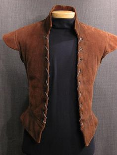Man's Doublet Renaissance brown leather - Wish I could get my husband to wear this.