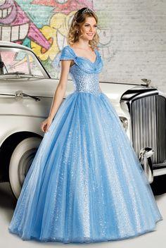 fa1b470ec4 Vestido de debutante London Street 05 Azul Cinderela   Vestido de 15 anos  longo rodado
