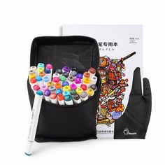 48 Color Touch Alcohol Art Sketch Pen Twin Tip Marker Pen Set+ Glove+Book+Bag