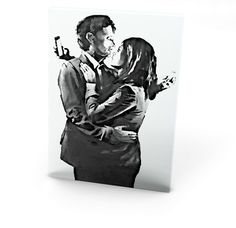 Our Banksy Mobile Lovers canvas print, makes a beautiful addition to any room. Comes ready to hang and also available as a poster Banksy Canvas Prints, Modern Canvas Art, My Arts, Paintings, Wall Art, Poster, Beautiful, Paint