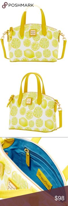 Dooney & Bourke Limited Edition Lemon Crossbody 100% brand new and authentic!! Limited edition 2017 style. Sold out in stores. Dimensions in pic! Dooney & Bourke Bags Crossbody Bags