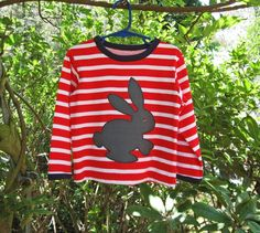 Sloppy Joe Top with Bunny Applique perfect for Easter! http://www.felicitysewingpatterns.com/product/sloppy-joe-top-pdf-sewing-pattern-bunny-applique-sizes-9-months-12-years-suitable-boys-and-0?tid=28
