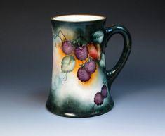 Antique Hand Painted with Blackberries T&V Limoges Mug, (1892-1917), Porcelain Tankard