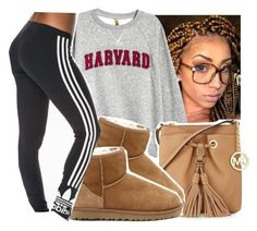 """Sweater weather🍂🍁"" by eazybreezy305 ❤ liked on Polyvore featuring MICHAEL Michael Kors, UGG Australia, adidas Originals, cute, sweaterweather and Fall2016"