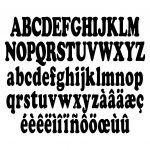 Patron livre plié alphabet complet (complete alphabet book folding pattern)