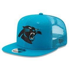 Carolina Panthers New Era Trucker Patched Snapback Adjustable Hat - Blue 6bc31b45b