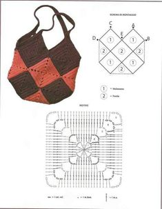 Knitting Bag Pattern Easy Best Ideas Knitting & strickbeutel muster einfach beste ideen stricken & modèle de sac à tricoter easy best ideas knitting Free Crochet Bag, Crochet Shell Stitch, Crochet Granny, Crochet Bags, Easy Crochet, Knit Crochet, Bag Patterns To Sew, Sewing Patterns, Crochet Patterns