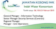 Jawatan Kosong IWK 2015 Terkini. Indah Water Konsortium job vacancies 2015. #kerjakosongiwk #jawatankosongiwk #indahwaterjobs2015