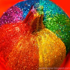 glitter Pumpkin I know of a little girl with a boatload of purple glitter that would love this