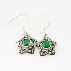 Genuine Emerald Solid Sterling Earrings. Starting at $1 on Tophatter.com!