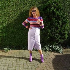 How to wear purple   For more style inspiration visit 40plusstyle.com