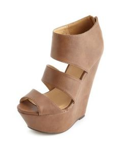 Triple Strap Zip-Back Wedge Sandal