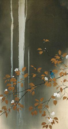 Kenshun (Waterfall, spring), Kawabata Ryushi / 川端龍子. Japanese (1885 - 1966)