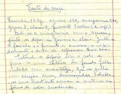 As Receitas da Avó Helena e da Avó Eduarda - Tarte de Cereja