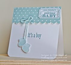 Stampin' Up ideas and supplies from Vicky at Crafting Clare's Paper Moments: Using Something for Baby by Stampin' Up - for a little boy