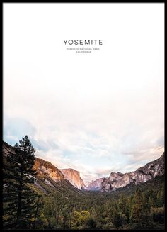 Yosemite, posters in the group Posters & Prints at Desenio AB (8566)