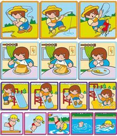 secuencias temporales - Buscar con Google Spanish Activities, Sorting Activities, Language Activities, Activities For Kids, Sequencing Pictures, Sequencing Cards, Story Sequencing, Memory Games For Kids, Math For Kids