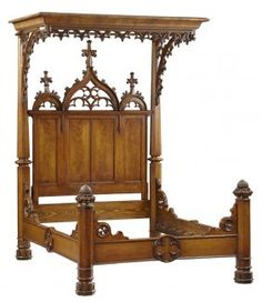 Gothic half tester bed