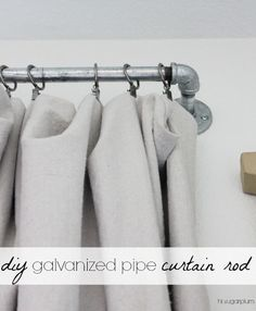 Hi Sugarplum | DIY Galvanized Pipe Curtain Rod - great industrial look, especially for a Boy's Room