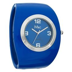 Mc Womens  Fashion Large Face  Bright Blue Bangle  FC0330 * Continue to the product at the image link.