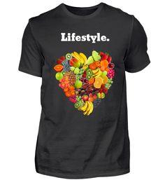 LIFESTYLE VEGAN OBST FRÜCHTE T-Shirt Vegan, Mens Tops, Fashion, Fruit, Heart, Moda, Fashion Styles, Fasion, Vegans