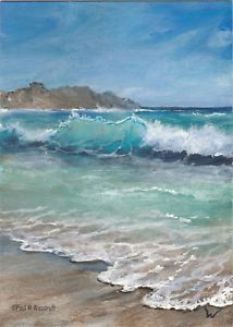 Ocean Scenes, Beach Scenes, Seascape Paintings, Landscape Paintings, Sea Art, Watercolor Landscape, Watercolour, Ocean Waves, Scenery