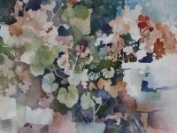 Watercolor Negative Painting, Watercolor Effects, Watercolor Flowers, Watercolor Paintings, Canvas Paintings, Painting Lessons, Still Life, Landscape, Gallery