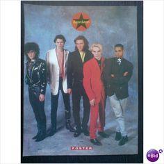 Duran Duran. Pin up poster group standing together Smash Hits Magazine