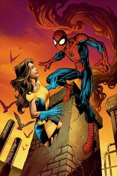 Shadowcat and Spiderman