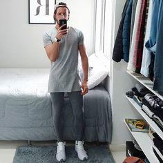 #outfit do dia #grey www.rodrigoperek.com #menstyle #menfashion #modamasculina #menlegging #legging #longtshirt #menswear #passarela #lookoftheday #blogger #youtuber #curitiba