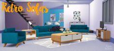 Clean Retro! Sofa Set at THINGSBYDEAN via Sims 4 Updates