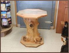 Huckaba Wood Carvings - Blue Pine Table