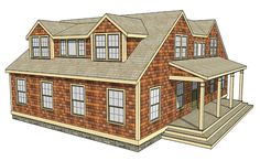 """A shed dormer can be the best way to add space to a one-and-a-half-story house, but not if it's designed poorly. In this """"Drawing Board"""" article, designer Michael Maines shares his general guidelines for shed dormers, then describes three variations on the shed-dormer style: a flush dormer, whose face wall is flush with the wall below; a recessed dormer, which is set into the roof; and a Nantucket dormer, a hybrid design that includes a gable dormer on each end of the shed dormer."""