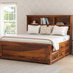 Best Prepac Monterey Queen Bookcase Platform Storage Bed In 400 x 300