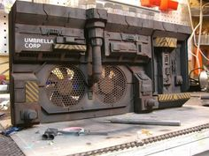 Computer case and parts for industrial terrain Warhammer 40k, Warhammer Terrain, 40k Terrain, Game Terrain, Wargaming Terrain, Maquette Star Wars, Tabletop, Sci Fi Models, Custom Action Figures