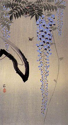 Ohara Koson (1877-1945): Bee and Wisteria